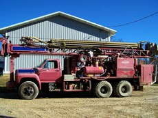 1995 Schramm T450 Water Well Drill Rig-Mud Pump